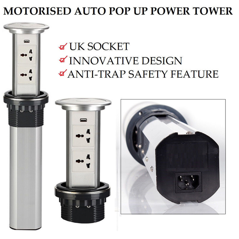 Anti - Trap Motorized Pop Up Socket Easy To Install Innovative Design